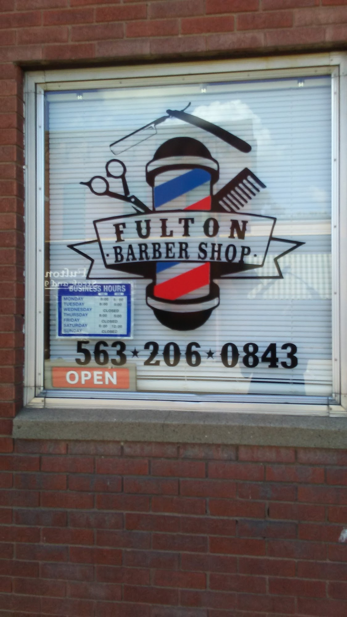 Fulton Barber Shop 1104 4th St, Fulton