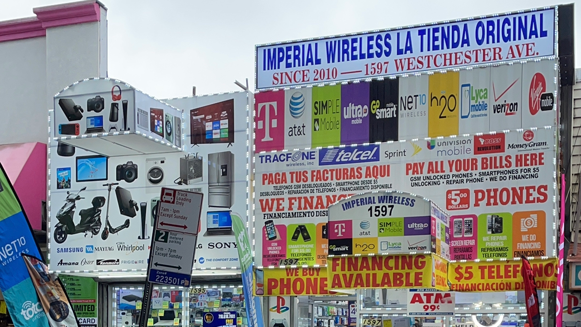 Imperial Wireless Wholesale 1597 Westchester Ave, Bronx