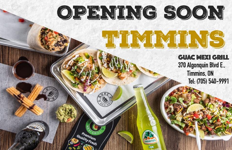 Guac Mexi Grill 370 Algonquin Blvd E, Timmins